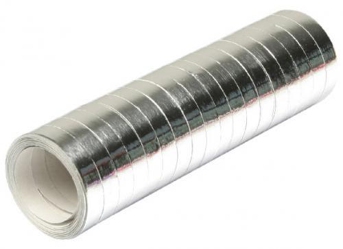 Serpentines metallic zilver 4m