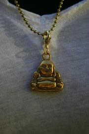 Dikke, happy boeddha, goudkleurig