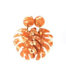 Oorbellen resin blad ⭥ 6 cm