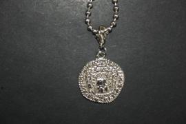 Munt, romeins, zilverkleurig, Ø munt 3 cm.