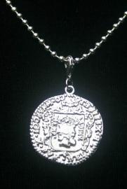 Munt, Romeins, zilverkleurig, Ø 2,4 cm