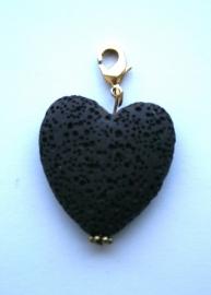 Hart lavasteen zwart