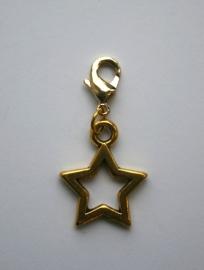Ster open zilver-/goudkleurig
