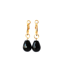 Creool goldplated met onyx