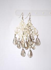 Oorbellen chandelier met crystal licht