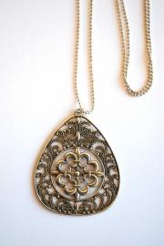 Ketting met ornament zilver
