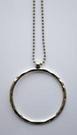 Ketting met cirkel zilver
