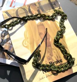 Brillenketting groen