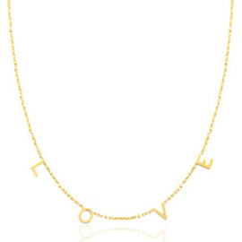 "Ketting stainless steel goldplated ""LOVE"""