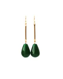 oorbellen met agaat groen