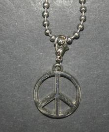 Peaceteken, zilverkleurig