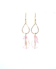 Oorbellen met crystal roze