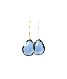 Creool met lichtgewicht hanger blauw
