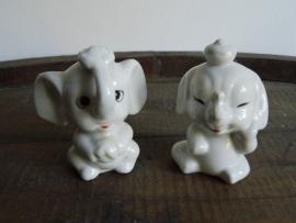Twee beeldjes olifant (Art.14-2314)