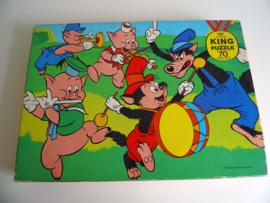 "Oude Disney puzzel ""De wolf en de drie biggetjes"" (Art.18-1562)"