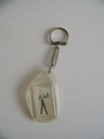 "Vintage sleutelhanger"" Café  'T Trefpunt Roosendaal ""(Art.20-1331)"