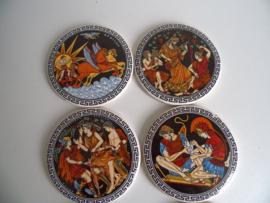 Keramische onderzetters uit Griekenland (Art.19-1035)