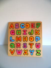 Houten alfabet puzzel (Art.19-1318)