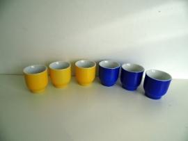 6 Porseleinen eierdopjes (Art.15-1798)