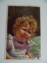 Oude kinderkaart gelopen uit 1956 (Art.15-2495)