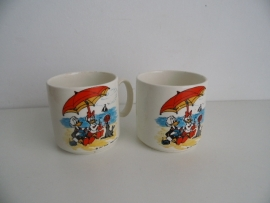 Vintage  bekers Pagnossin treviso Italy no 766 Walt Disney jaren 60/70(Art.15-2834)