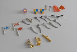 Playmobil jaren 70 ridder accessoires (Art.21-1949)