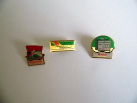 3 vintage Fugi pin's (Art.17-2151)