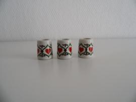 Drie kleine kaarsenhouders voor de letterbak jaren 70(Art.20-1589)
