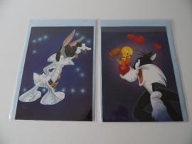 Twee kaarten Bugs Bunny en Silvester (Art.14-1370)