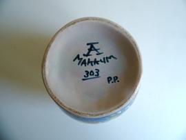 Makkum vaas 303 p.p.(Art.18-1180)
