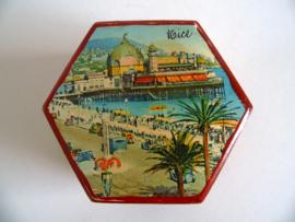 Oud houten doosje Nice jaren 50/60 (Art.20-1175)