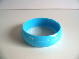 Blauwe armband jaren 70 (Art.20-1049)
