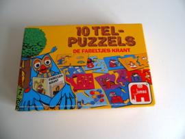 10 Tel-puzzels van de Fabeltjeskrant uit 1985 (Art.19-1040)