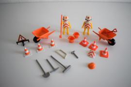Playmobil set werkmannen uit de jaren 70 (Art.21-1947)