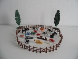 Setje oude boerderij dieren jaren 60 (Art.20-1619)