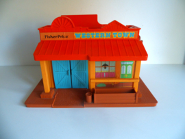 Fisher Price #934 Western Town uit 1982 (Art.18-2060)