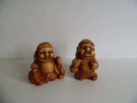 Twee beeldjes monnink (Art.15-3806)