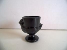 Glazen zwarte eierdop (Art.20-1167)