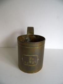 Koperen maatbeker 1/2 liter (Art.16-1787)