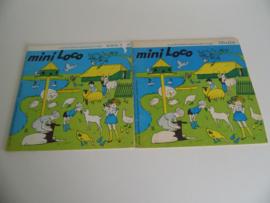 Twee oude boekjes mini loco Thuis-aan zee (Art.19-1365)