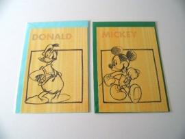 Twee kaarten Donald en Mickey (14-1371)