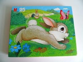Leuke puzzel konijn van MB (Art.15-2930)
