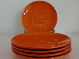 5 Fondue borden jaren 70 (Art. 11-3045)