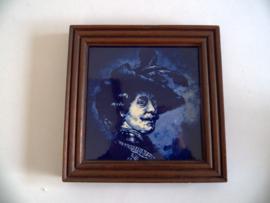 Vintage Delfts blauwe tegel (Art.20-1100)