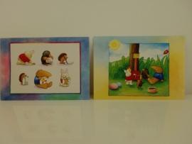 Twee kaarten kinderzegel Vera Backker (Art.12-15042)