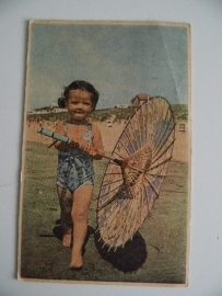 Oude kinderkaart uit 1956 Miek Douw (Art.15-2518)