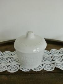 Witte porseleinen voorraadpot (Art.13-8688)
