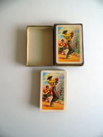 Oud stok speelkaarten met flamenco danser uit de jaren 60 (Art.19-1382)