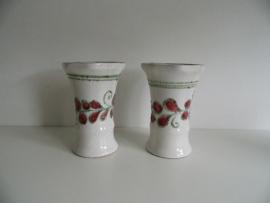 Twee mooie Strehla vazen 1477 GDR (Art.13-9099)