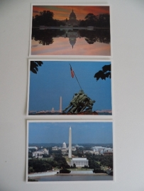 3 Ansichtkaarten Washington DC (Art.16-1431)